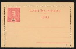 PORTUGAL  CARTAO POSTAL  INDIA  - 1 TANGA - Inde Portugaise