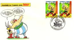 Fête Du Timbre Astérix-n° 3225-1999-enveloppe-16.5 X 9.5 - Autres