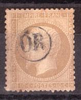 Napoléon III - N° 21 - OR Dans Un Cercle - Marcophilie (Timbres Détachés)