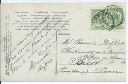 Fantasiekaart Met OCB 56(2x) - Afstempeling LOMMEL - COBA 8 - 1893-1907 Armarios