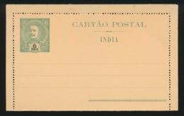 PORTUGAL  CARTAO POSTAL  INDIA  - 6 REIS - Inde Portugaise