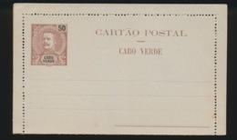 PORTUGAL  CARTAO POSTAL   CABO VERDE  50 REIS - Cap Vert
