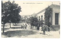 Cpa Algérie, Alger-Mustapha, L'Hôpital Civil - Algeria
