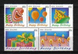 N. Zealand 1991 Happy Birthday Sheet Y.T. 1110/1114 ** - Neuseeland