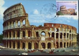 48047 Italia, Maximum 2004 Foundation Roma Bangkok,showing The Colosseum Arena Of Rome, The Coliseum - Cartoline Maximum