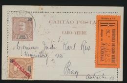 PORTUGAL  CARTAO POSTAL   - CABO VERDE  50 REIS  2 SCANS - Cap Vert