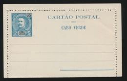 PORTUGAL  CARTAO POSTAL   - CABO VERDE  65 REIS - Cap Vert