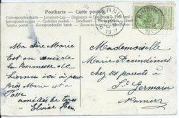 Fantasiekaart Met OCB 56  - Afstempeling RHISNE / LIERNU - COBA 8 - 1893-1907 Armarios