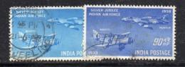 Y1523 - INDIA 1958 , Posta Aerea Yvert Serie N. 7/8 Usata (2380A) - Posta Aerea