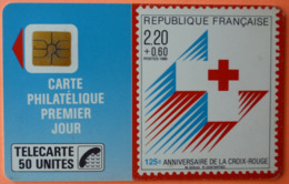 TELECARTE - CROIX ROUGE FRANCAISE 50U - 2 SCANS - France