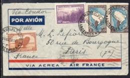 Argentina (Mar Del Plata) To Paris (France), 1939, Via Air France - Luftpost