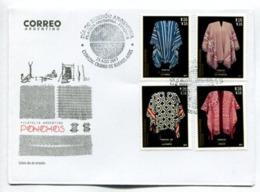 PONCHOS, DE 60 LISTAS, ANDINO, CAYUPAN, PILAGA - ARGENTINA 2017 FDC SOBRE DIA DE EMISION -LILHU - FDC