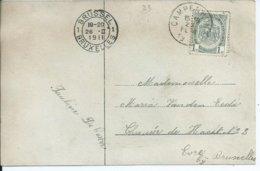 Fantasiekaart Met OCB 81  - Afstempeling CAMPENHOUT Type 2L - COBA 20 - 1893-1907 Wappen