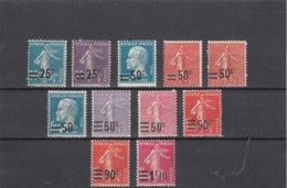 France - 1926/27 - N°YT 217/228** - Timbres De 1906-26 Surchargés - Cote 36€ - Francia
