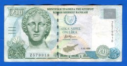 Chypre  10  Pounds  1998 - Cyprus