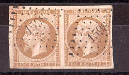 Napoléon III - Paire Du N° 13A Bistre-brun - PC 1598 Juniville (Ardennes) - 1849-1876: Période Classique