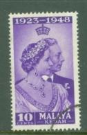 Malaya - Kedah: 1948   Royal Silver Wedding    SG70  10c    Used - Kedah