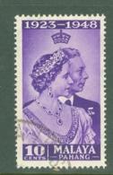 Malaya - Pahang: 1948   Royal Silver Wedding    SG47  10c    Used - Pahang