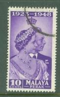 Malaya - Perak: 1948   Royal Silver Wedding    SG122  10c    Used - Perak