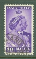 Malaya - Selangor: 1948   Royal Silver Wedding    SG88  10c    Used - Selangor