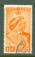 Northern Rhodesia: 1948   Royal Silver Wedding    SG48  1½d    Used - Nordrhodesien (...-1963)