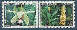 """Nle-Caledonie YT 520 & 521 """" Orchidées """" 1986 Neuf** - New Caledonia"""
