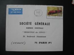 Lettre Thème  Transport  Train  Kenya   Pour La Sté Générale En France   Bd Haussmann Paris - Kenya (1963-...)