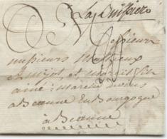 BELGIQUE - LA BUISSIERE MANUSCRIT SUR LETTRE AVEC TEXTE DE THUIN POUR LA FRANCE, 1786 - 1714-1794 (Oesterreichische Niederlande)