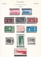 DDR - 1957 - Sammlung - Gest./Ungebr. - DDR