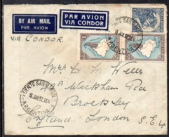 Argentina (Puerto San Martin SF) To London (England), 1937, Via Condor - Luftpost
