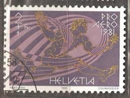 Switzerland: Single Used Stamp, 50 Years Of Swissair, 1981, Mi#1196 - Oblitérés