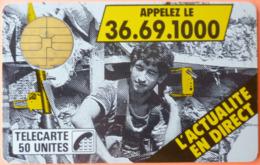 TELECARTE - L'ACTUALITE EN DIRECT - APPELEZ LE 36 69 1000 - 50U - 2 SCANS - 1987