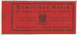 ALEMANIA REICH 1936 CARNET COMPLETO JUEGOS OLIMPICOS DE BERLIN OLYMPIC GAMES - Sommer 1936: Berlin