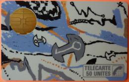 TELECARTE - CLE DE LUNE - 50U - 2 SCANS - 1987