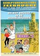 Zeebrugge Suske En Wiske Bob Et Bobette Kiekeboe  Strip Stripkaart BD - Comics