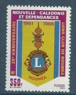 "Nle-Caledonie YT 528 "" Lions Club "" 1986 Neuf** - Nouvelle-Calédonie"