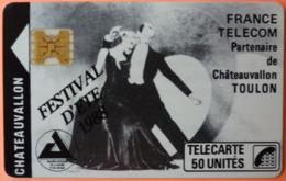 TELECARTE - CHATEAUVALLON - 50U - 2 SCANS - 1988