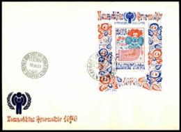 Hongrie 1979  IYC AIE  FDC Souvenir Sheet - Enfance & Jeunesse
