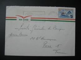 Lettre Thème Transport Bateau Tourisme Pêche  Côte D'Ivoire   Pour La Sté Générale En France Bd Haussmann Paris - Ivory Coast (1960-...)