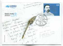 DARIO RUBEN, 100 AÑOS DE SU FALLECIMIENTO. POETA POET POETE - ARGENTINA 2018 FDC SOBRE DIA DE EMISION -LILHU - FDC