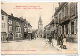 88. Saint Dié. La Rue D'alsace Et L'eglise St Martin - Saint Die