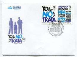 AMERICA UPAEP - YO LE DIGO NO A LA TRATA. ARGENTINA 2016 FDC SOBRE DIA DE EMISION -LILHU - FDC