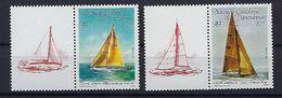 """Nle-Caledonie YT 531 Et 532 Avec Vignette """" Voiliers """" 1987 Neuf** - Nieuw-Caledonië"""