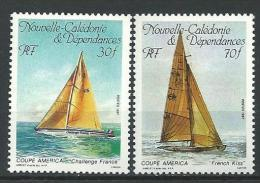 """Nle-Caledonie YT 531 & 532 """" Voiliers """" 1987 Neuf** - Nouvelle-Calédonie"""