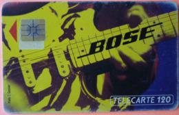 TELECARTE - BOSE - ERREUR PUCE DEPLACEE !!! - 120U - 3 SCANS - France