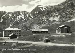 """5531 """" GRAN SAN BERNARDO  M. 2467- LA CANTINA """" AUTO ANNI'50 -CART. POST.NON SPED. - Italy"""
