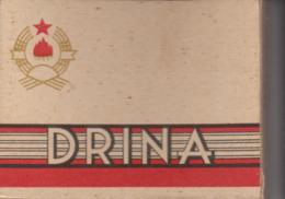 PAQUET CIGARETTES VIDE. DRINA  GRECE OU RUSSIE - Empty Cigarettes Boxes