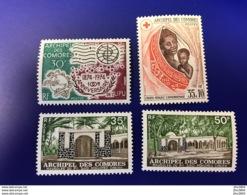 COMORES  4 V Neuf ** MNH YT 95 96 89 90 UPU Croix Rouge Mausolée  COMOROS KOMOREN - Komoren (1950-1975)