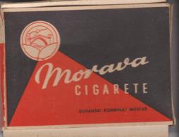 PAQUET CIGARETTES VIDE. MORAVA .  SARAJEVO - Empty Cigarettes Boxes