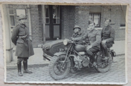 SIDE-CAR - MOTO / MOTOS - Photo Carte - Ph: Jules Vanmaele, Rouselare/Rouler/Roeselare - 2 Scans - Motorbikes
